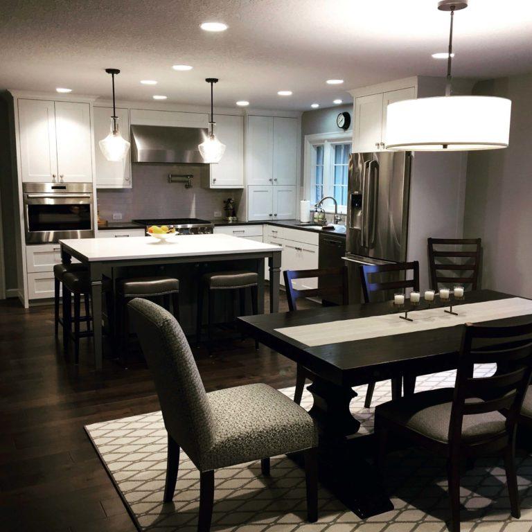 Dark kitchen cabinets with granite countertop