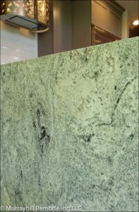 Side view of marble counter top in the kitchen